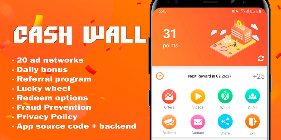 Cash Wall Android Source Code